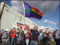 Protesters in San Francisco march to demand the overturn of Proposition 8.