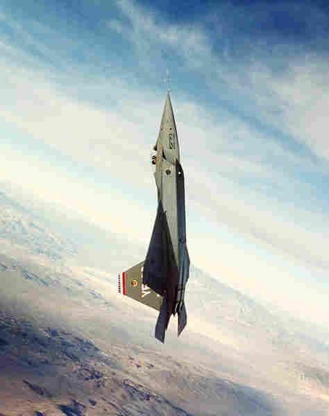 Y-F22 on a test flight