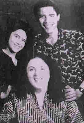 Ann Dunham with her children, Barack Obama and Maya Soetoro-Ng.