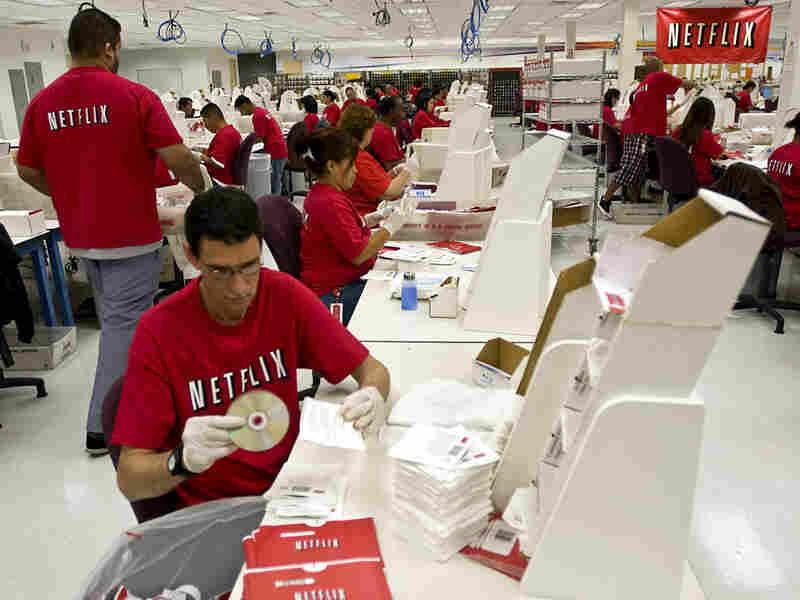 A Netflix shipping center