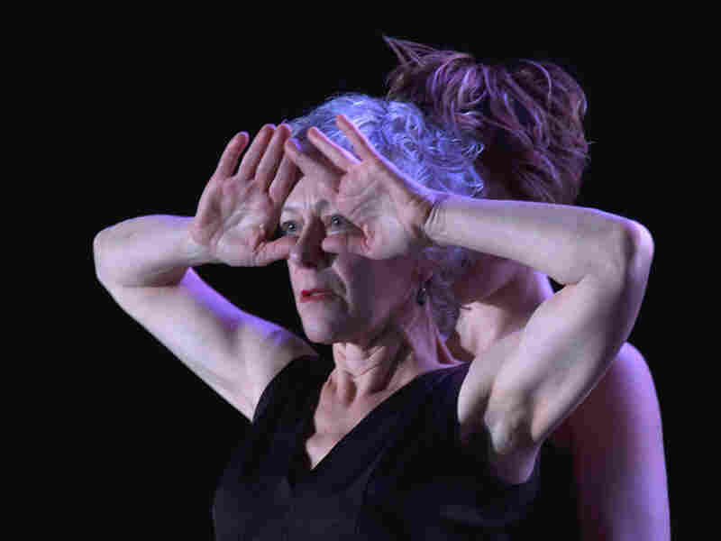 Dancer Diane McKallip, hands in front of her face