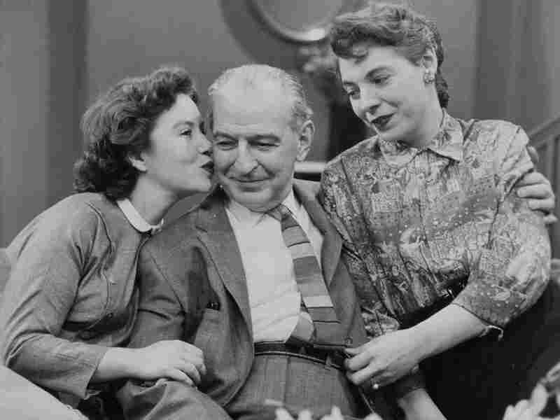 Ellen Demming, Theo Goetz and Charita Bauer in an early episode of 'The Guiding Light'