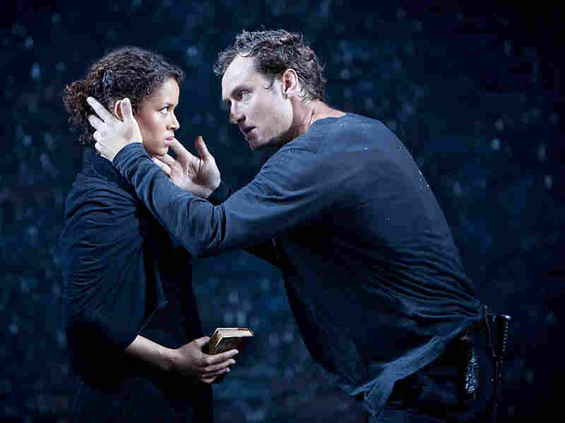 Gugu Mbatha-Raw and Jude Law in 'Hamlet'