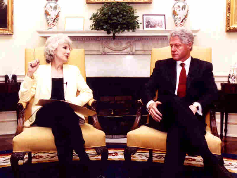 Rehm and Clinton, Oval Office