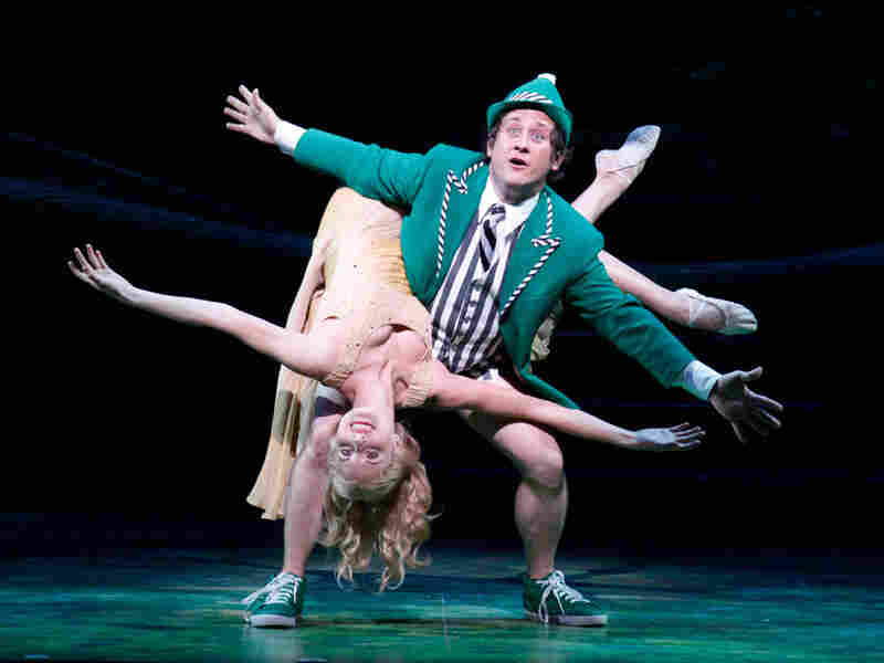 Alina Faye and Christopher Fitzgerald in 'Finian's Rainbow'