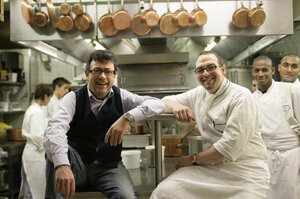 Chef Christian Constant (left) and chef de cuisine Stephane Schmidt.