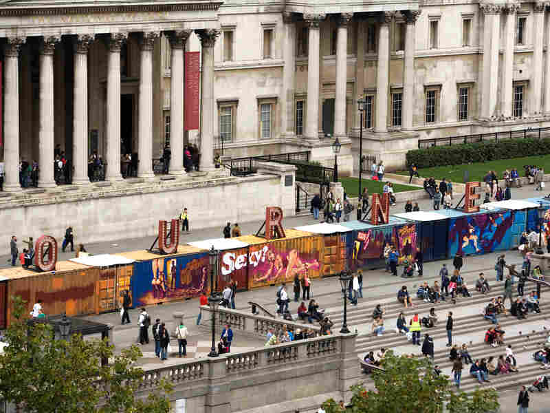 'Journey' outside London's National Gallery