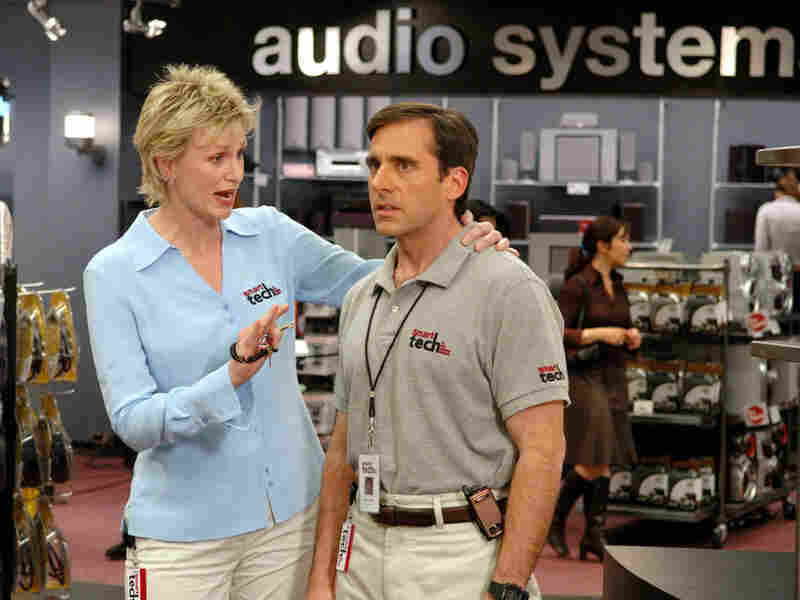 Jane Lynch and Steve Carell in '40-Year-Old Virgin'