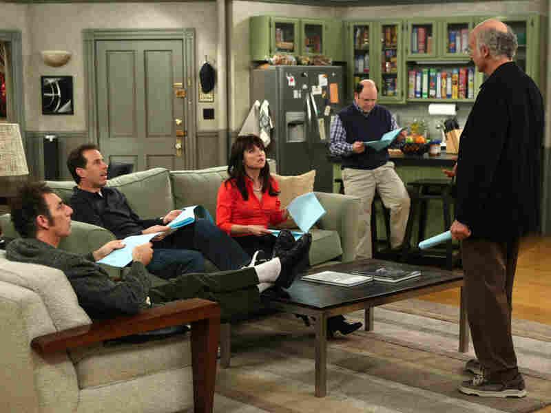 Michael Richards, Jerry Seinfeld, Julia Louis-Dreyfus, Jason Alexander and Larry David in 'Curb'