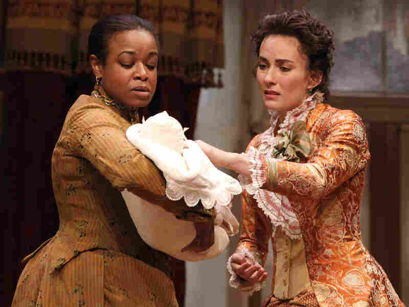 Quincy Tyler Bernstine and Laura Benanti in 'In The Next Room, or the Vibrator Play'