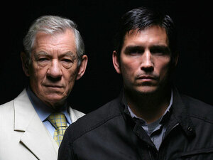 Ian McKellen and Jim Caviezel in AMC's 'The Prisoner'