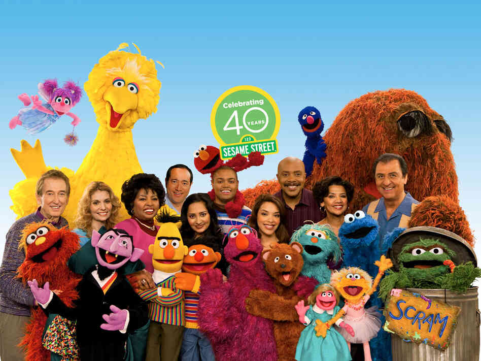 40th anniversary cast of 'Sesame Street'