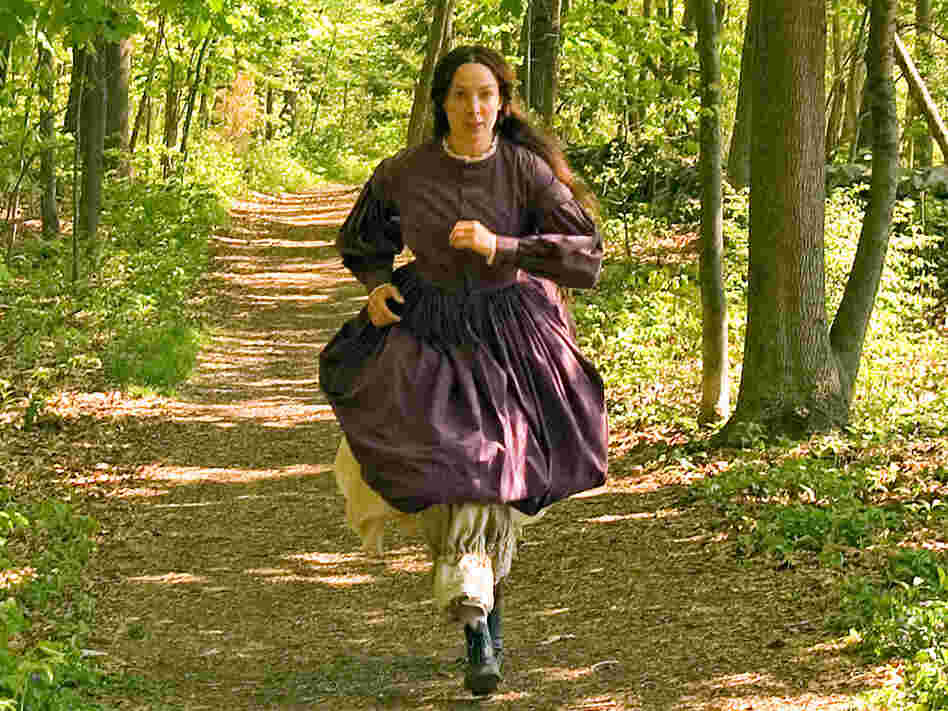 Elizabeth Marvel as Louisa May Alcott, who loved to run.