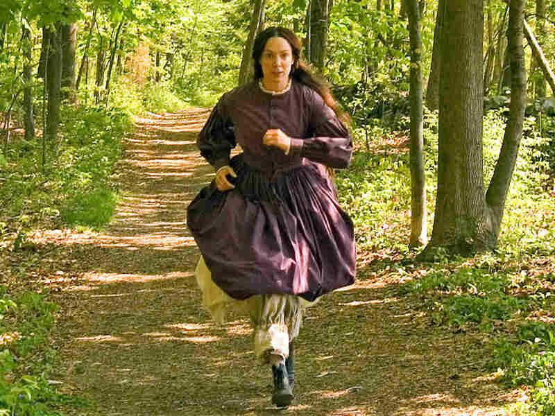 Elizabeth Marvel as Louisa May Alcott, who loved to run.