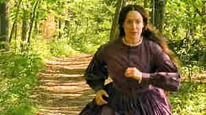 W: Elizabeth Marvel as Louisa May Alcott, who loved to run.