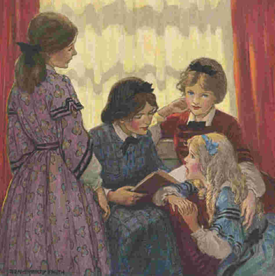 An illustration from 'Little Women'