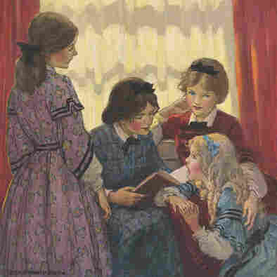 An illustration from 'Little Women'