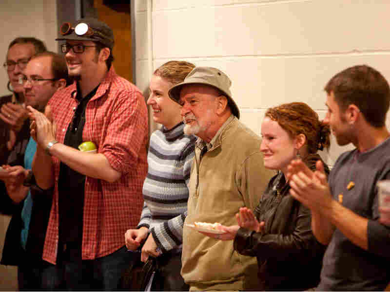 Playwright Athol Fugard and Long Wharf Theatre staff