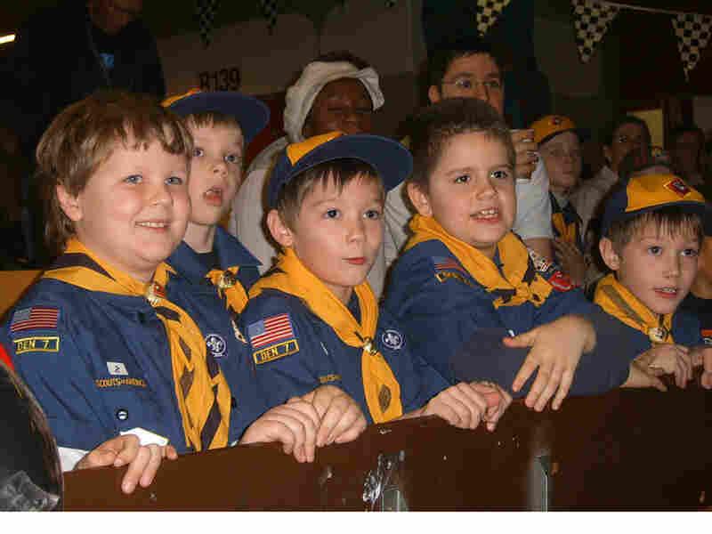 Cub Scouts at Pinewood Dervby