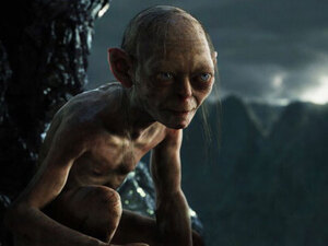 Andy Serkis plays Gollum
