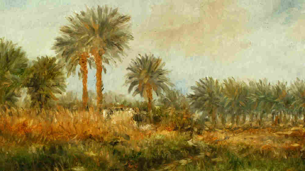 W: A landscape painting by Ahmad AlKarkhi