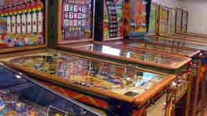 David Silverman's pinball machine collection.