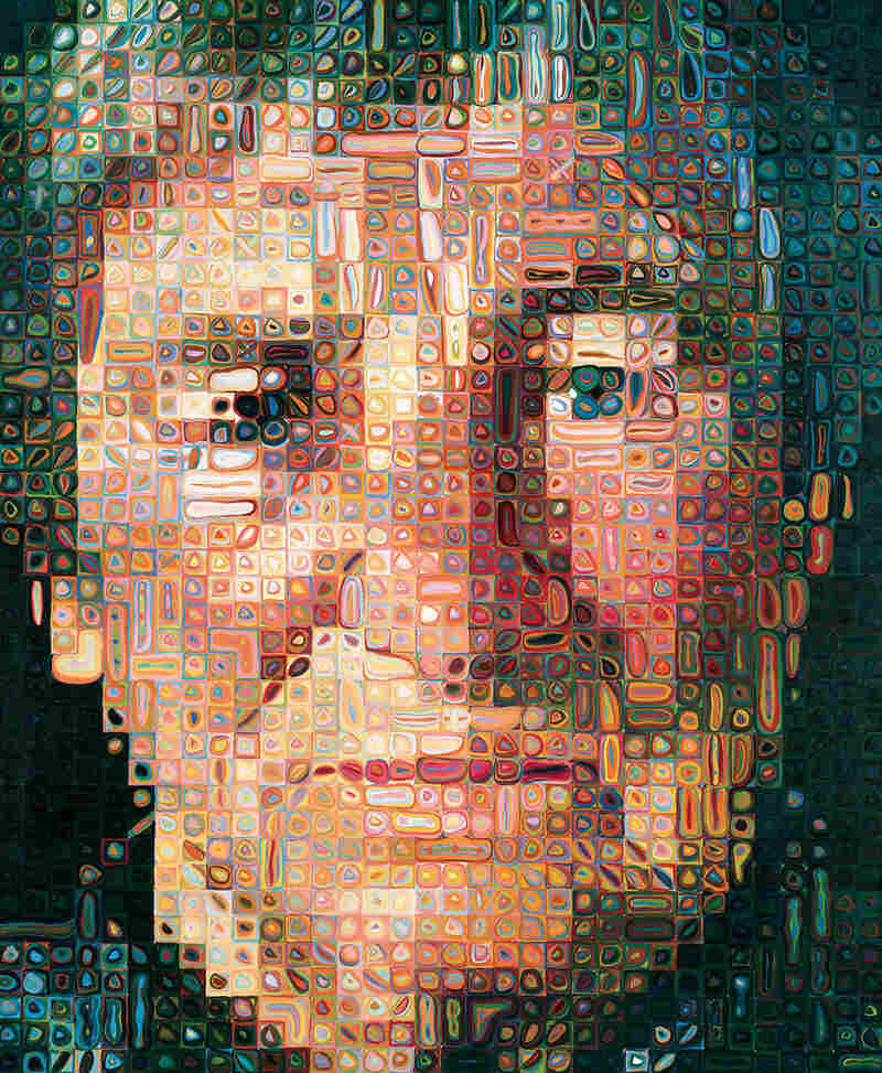 Agnes, by Chuck Close, oil on canvas.