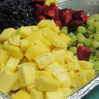 A plate of fruit prepared for the set of 'Burlesque'