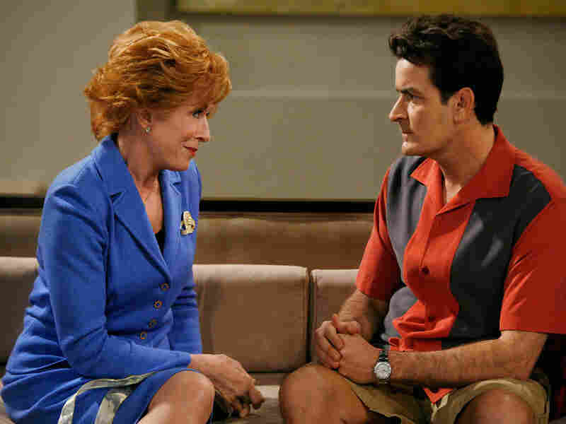 Holland Taylor and Charlie Sheen