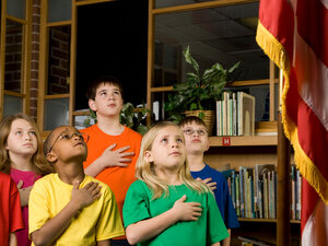 Children Reciting Pledge of Allegiance