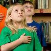 Children Reciting Pledge of Allegiance
