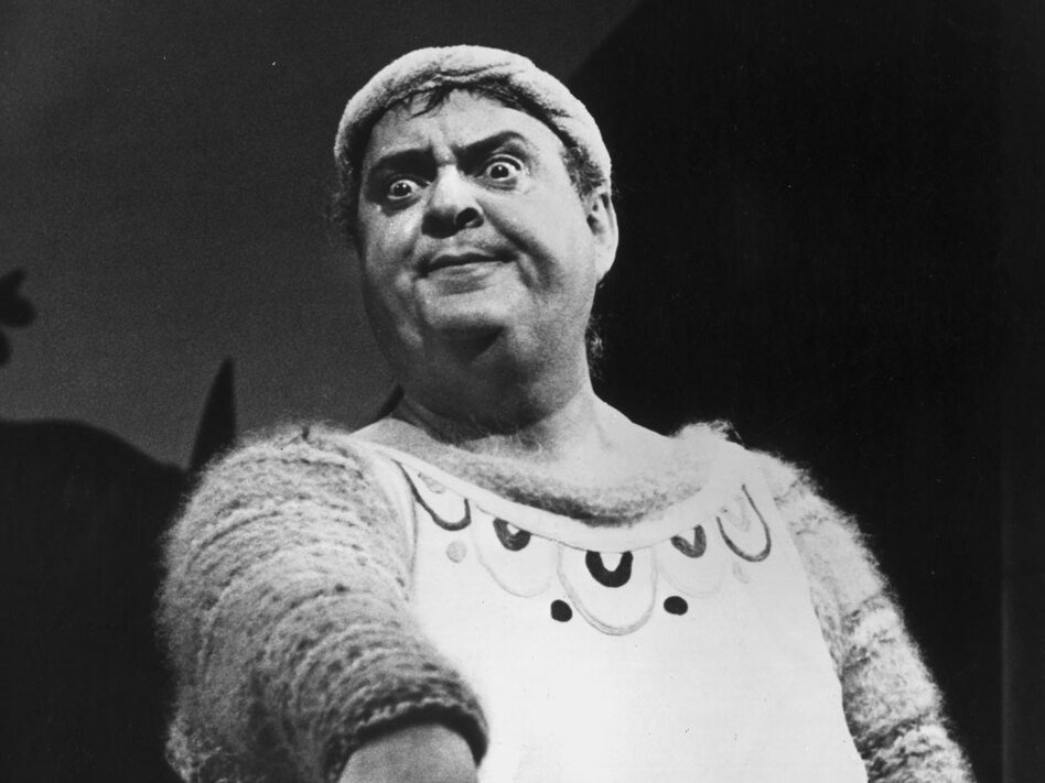 Zero Mostel starred as Pseudolus in the bawdy farce A Funny Thing Happened on the Way to the Forum. The musical was the first to feature Sondheim's music and lyrics. (Getty Images)