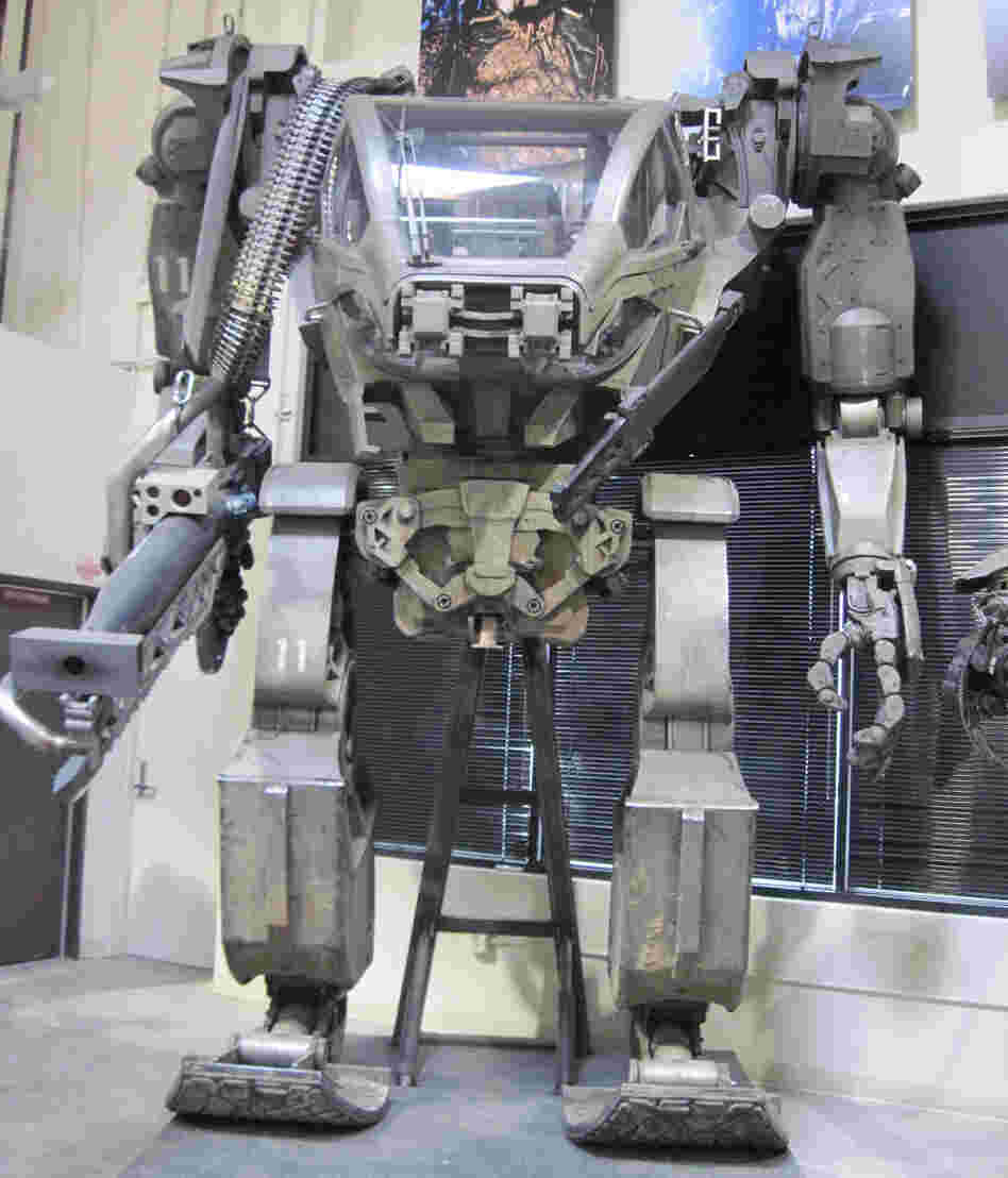 Armored Mobile Platform (AMP) suit from 'Avatar' in the Legacy Effects warehouse.