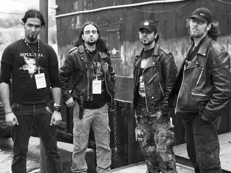 The band Acrassicauda: Faisal Talal, Tony Aziz, Firas Al-Lateef, Marwan Riyadh