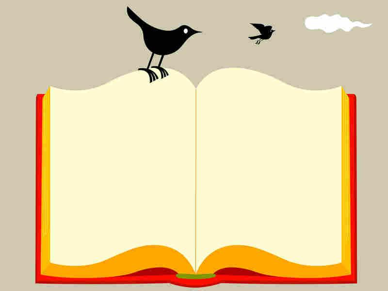 A bird on a book