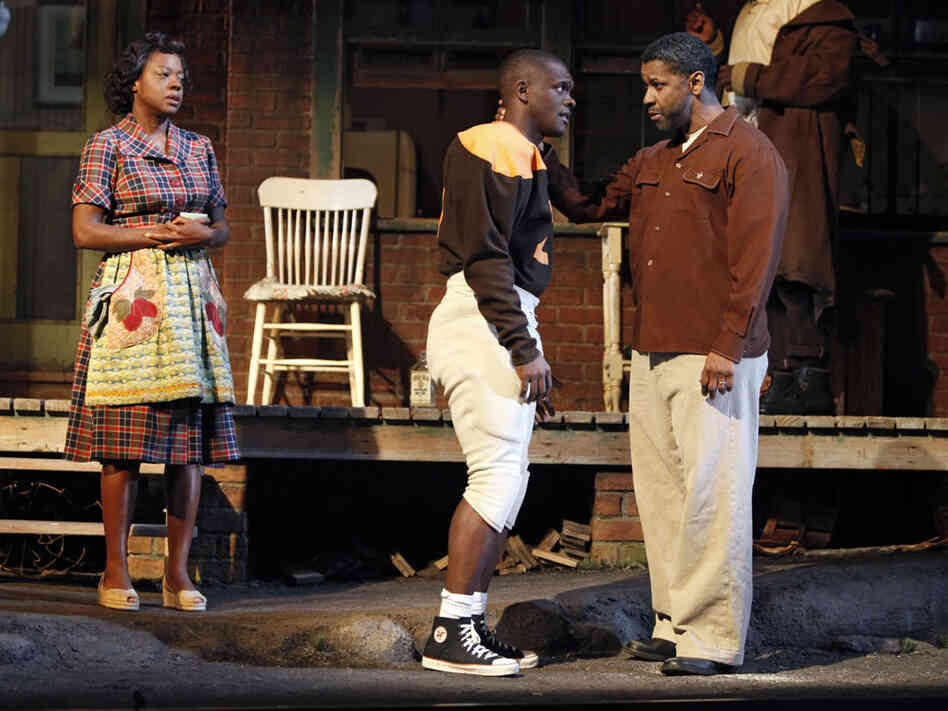 Viola Davis, Chris Chalk, Denzel Washington