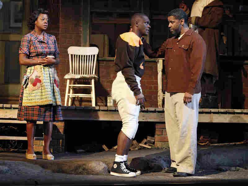 Viola Davis, Chris Chalk, Denzel Washington