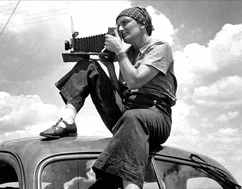 Dorothea Lange pictured circa 1934 in Texas.