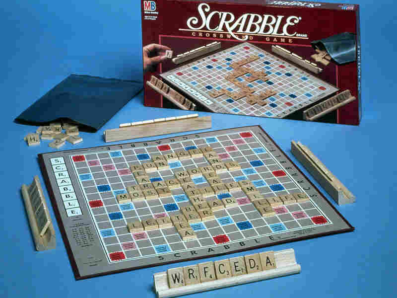 Scrabble board.
