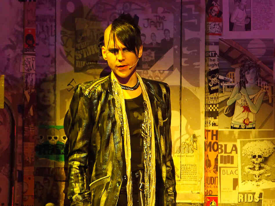 Tony Vincent as St. Jimmy in a scene from American Idiot