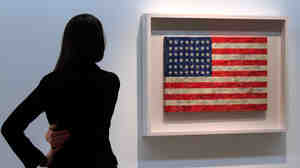 Jasper Johns' painting 'Flag' at Christie's
