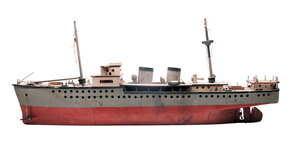 A model ship made by an unidentified internee in Jerome, Ark.