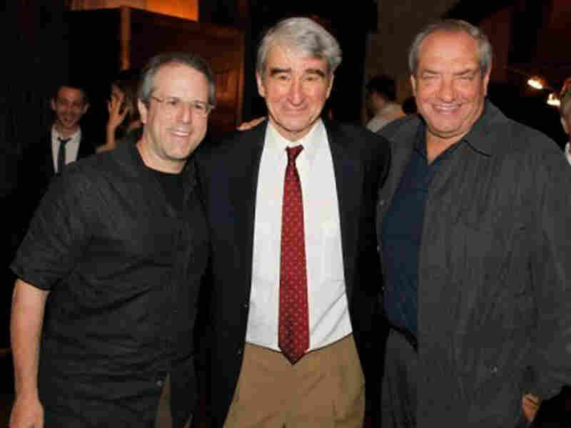 Rene Balcer (from left), producer, Law & Order; Sam Waterston Dick Wolf, creator/executive producer