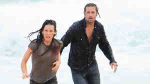 Evangeline Lilly and Josh Holloway in 'Lost'