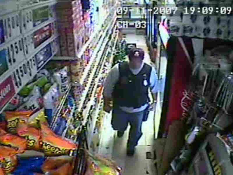 Video still from bodega surveillance camera