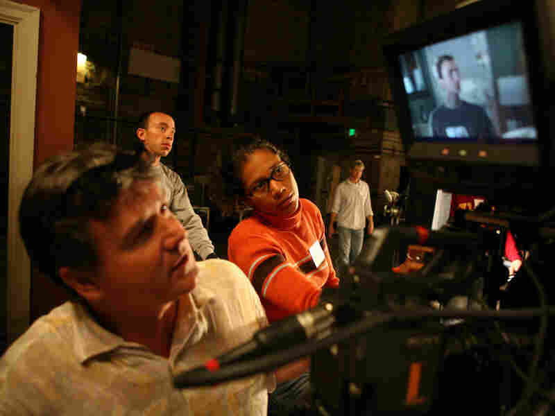 Cinematographers practice shooting live-action 3-D