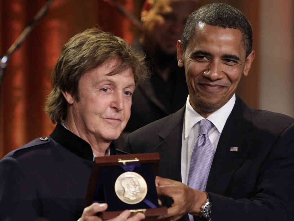 Paul McCartney and President Barack Obama