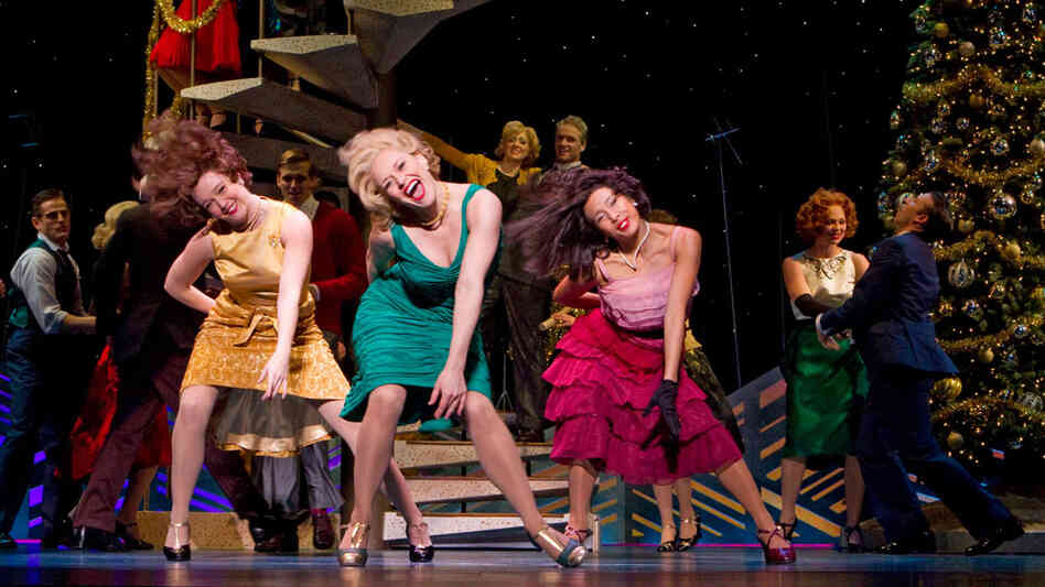"Megan Sikora and the ensemble of ""Promises, Promises"""