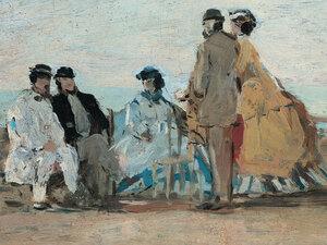 Boudin's 'Personnages sur la plage de Trouville'