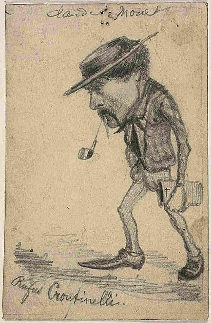 Caricature of Henri Cassinelli: 'Rufus Croutinelli'